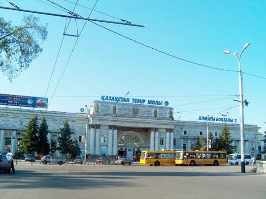 Ж/Д вокзал Алматы-2. Фото arnapress.kz