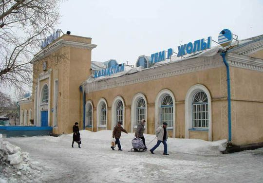 Ж/Д вокзал в Атбасаре
