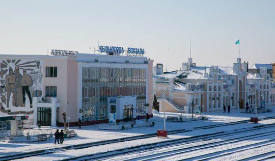 Здания Ж/Д вокзала в Кызылорде