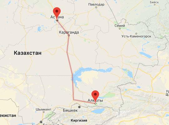 Фирменный поезд Байтерек маршрут