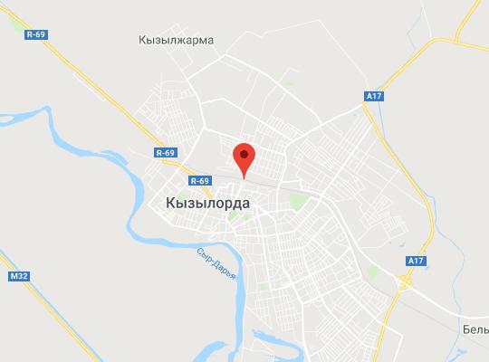 жд станция Кызылорда на карте