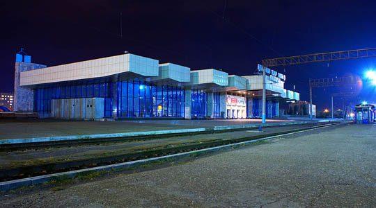Ж/Д вокзал Павлодара ночью