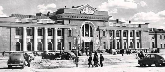 Ж/Д вокзал Караганды, 1950е года