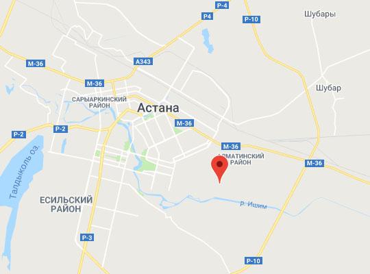 ЖД станция Астана-Нурлы Жол на карте
