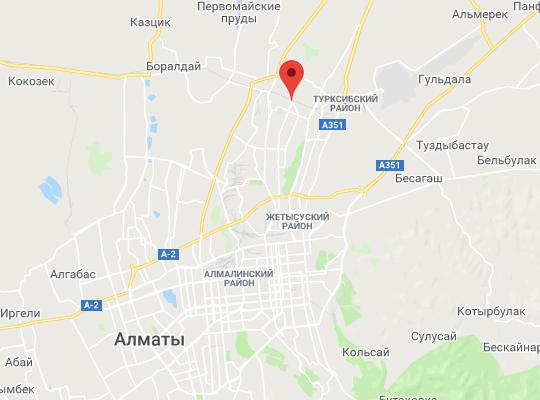 жд станция Алматы-1 на карте