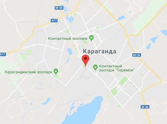 жд станция Караганда на карте