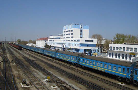 Поезд на станции Актобе