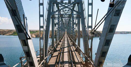 Мост над Капчагайским водохранилищем
