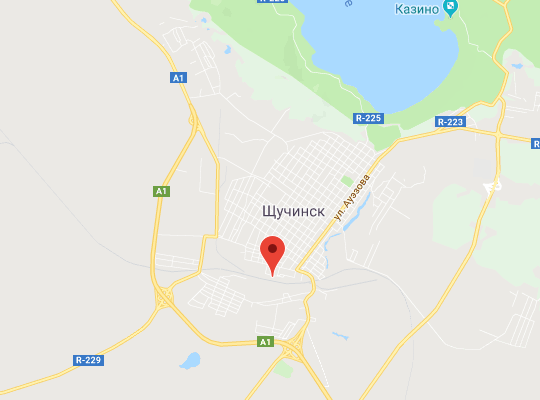 жд станция Щучинск (Боровое) на карте