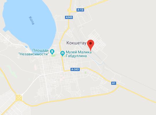 жд станция Кокшетау карта