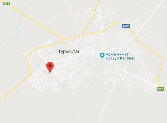 жд станция Туркестан на карте