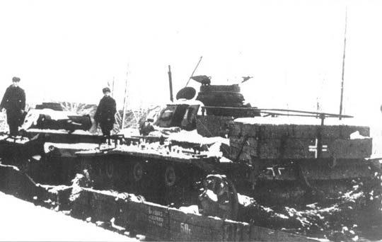 Доставка немецких танков на переплавку