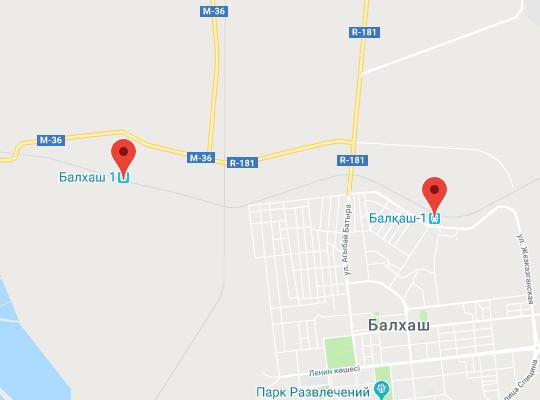 жд станция Балхаш на карте