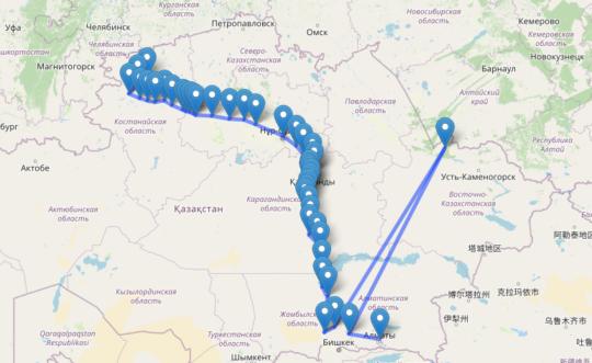 маршрут поезда 044